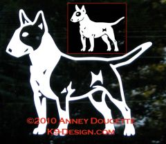 Bull Terrier Standing Decal - Choose Colored or White