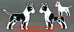 Bull Terrier Standing Magnet - Choose Colored or White