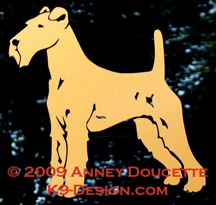 Irish Terrier Standing Decal