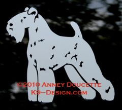 Kerry Blue Terrier Standing Decal