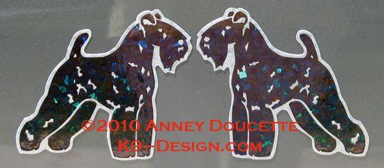 Kerry Blue Terrier Standing Magnet