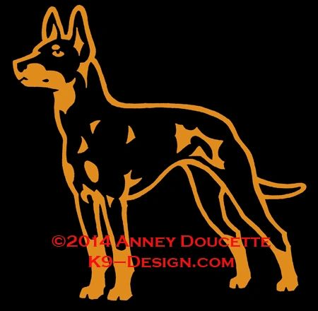 Manchester Terrier Standing Decal