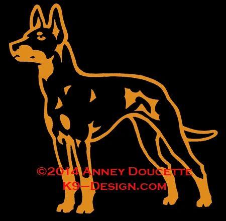 Manchester Terrier Standing Decal