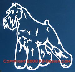 Miniature Schnauzer Decal - Choose Color & Natural or Cropped Ears