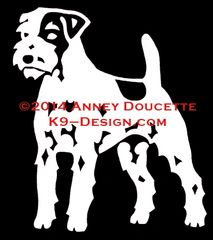 Parson Russell Terrier Standing Decal