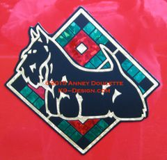 "Scottish Terrier Plaid Diamond 8"" Magnet - Choose Colors"