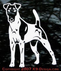 Smooth Fox Terrier Standing Front Decal