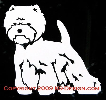 West Highland White Terrier Standing Decal