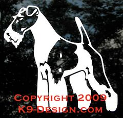 Wire Fox Terrier Standing Front Decal