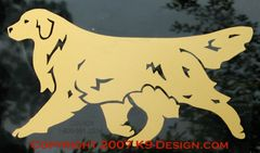 Golden Retriever Trotting Decal