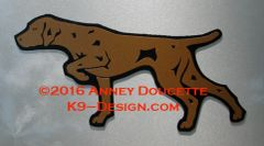Vizsla Pointing Profile Magnet