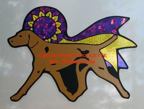 Vizsla Trot With Ribbon Magnet - Choose Ribbon Color