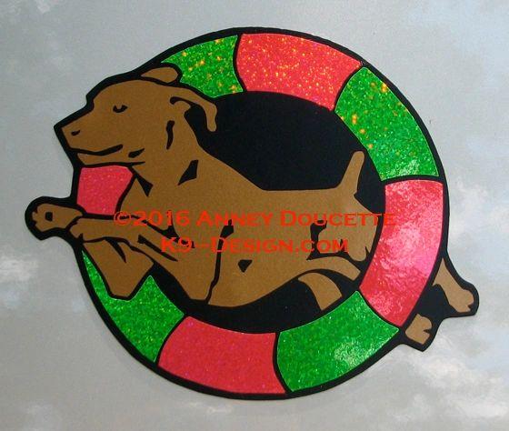Vizsla Agility Tire Magnet - Choose Colors