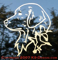 Golden Retriever Headstudy with Ducks Decal