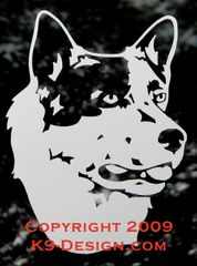 Australian Cattle Dog Headstudy Decal