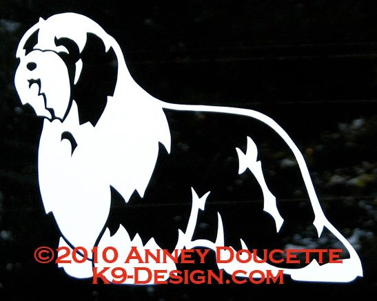 Bearded Collie Standing Decal