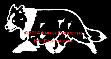 Border Collie Trotting Decal
