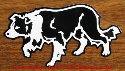 Border Collie Crouching / Herding Magnet - Choose Color