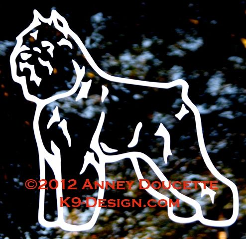 Bouvier des Flandres Standing Decal - Choose Color
