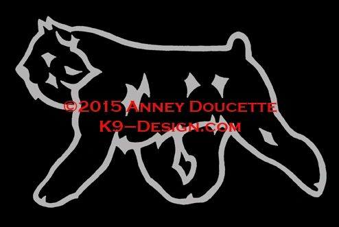 Bouvier des Flandres Trotting Decal - Choose Color