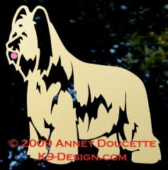 Briard Standing Decal - Choose Color