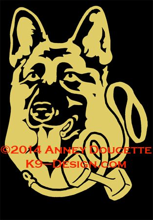 German Shepherd Dog Obedience Headstudy Decal