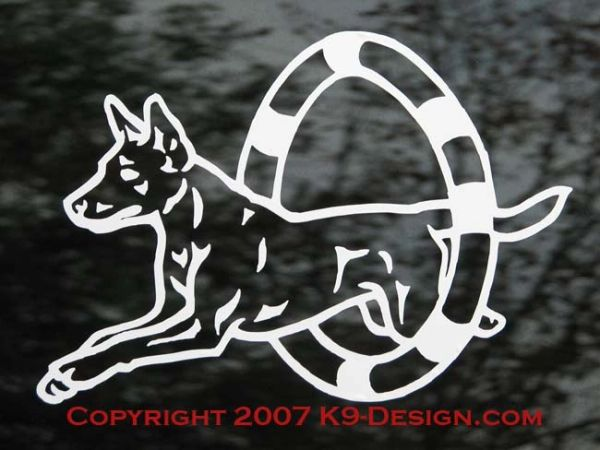 Australian Kelpie Agility Decal - Choose Color