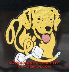Golden Retriever Obedience Headstudy Magnet