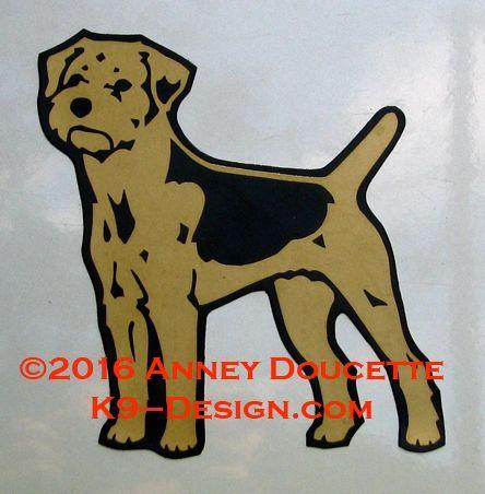 Border Terrier Standing Magnet