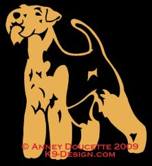 Welsh Terrier Standing Decal