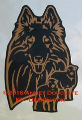 Belgian Tervuren Headstudy with or without Sheep Magnet