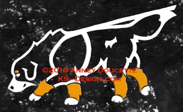 Bernese Mountain Dog Tracking Decal