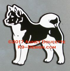 Akita Standing Magnet - Choose Color