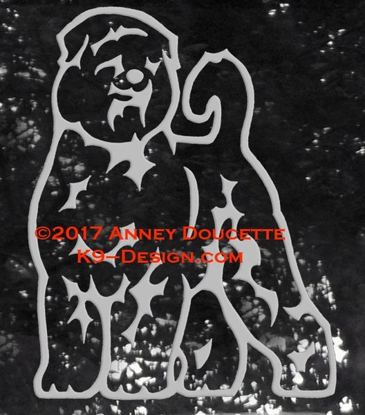 Black Russian Terrier Stand Front Decal - Choose Color