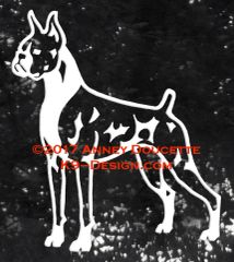 Boxer Stand Front Decal