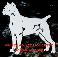 Cane Corso Stacked Decal - Choose Color