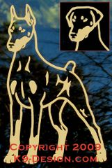 Doberman Pinscher Stand Front Decal - Choose Color, Tail & Ears