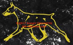 Doberman Pinscher Trotting Decal - Choose Color, Tail & Ears