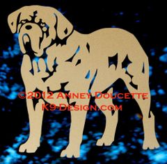 Dogue de Bordeaux Standing Decal