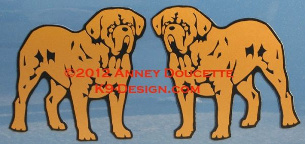 Dogue De Bordeaux Standing Magnet