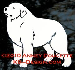 Great Pyrenees Standing Decal