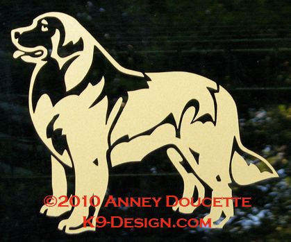 Leonberger Standing Decal - Choose Color