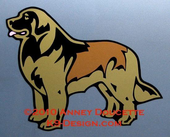 Leonberger Standing Large Magnet