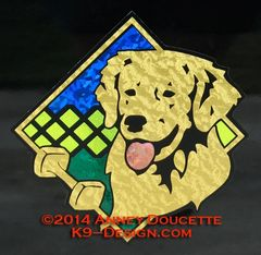 "Golden Retriever Obedience Diamond 8"" Magnet"