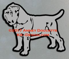 Neapolitan Mastiff Stacked Magnet - Choose Color