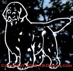 Newfoundland Stand Front Decal - Choose Color