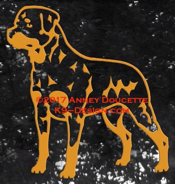 Rottweiler Standing Decal
