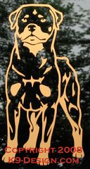 Rottweiler Stand Front Decal