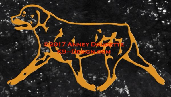 Rottweiler Trotting Decal