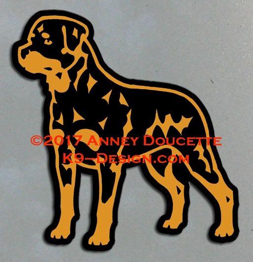 Rottweiler Standing Magnet